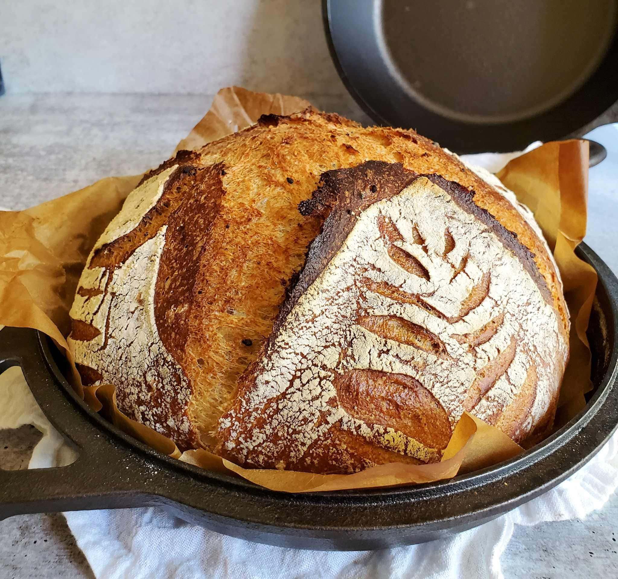 Simple No Knead Sourdough Bread Recipe Homestead And Chill